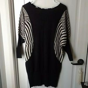 New Sweater Dress Black Beige size Small Medium
